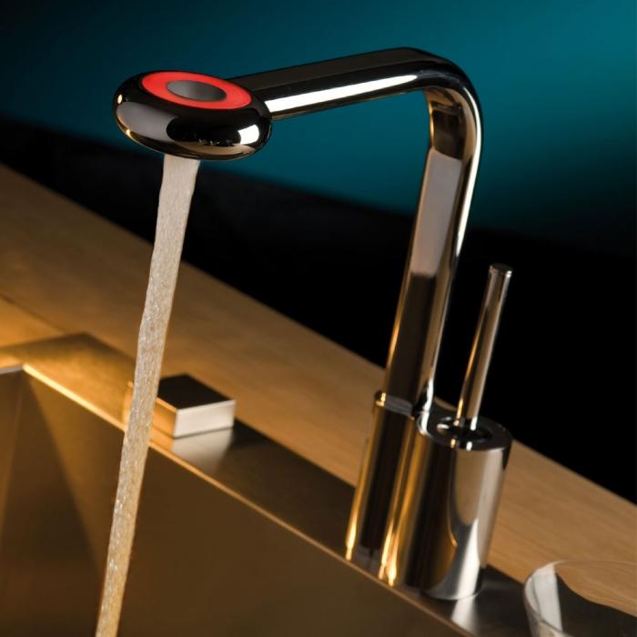 Chrom Kitchen Faucet Four Hole