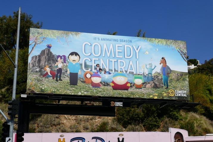 animating season Comedy Central billboard