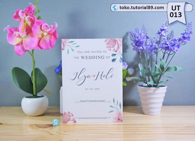 Undangan pernikahan UT013 - Lipat Tiga Potrait