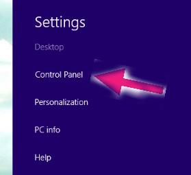 control panel par click kare