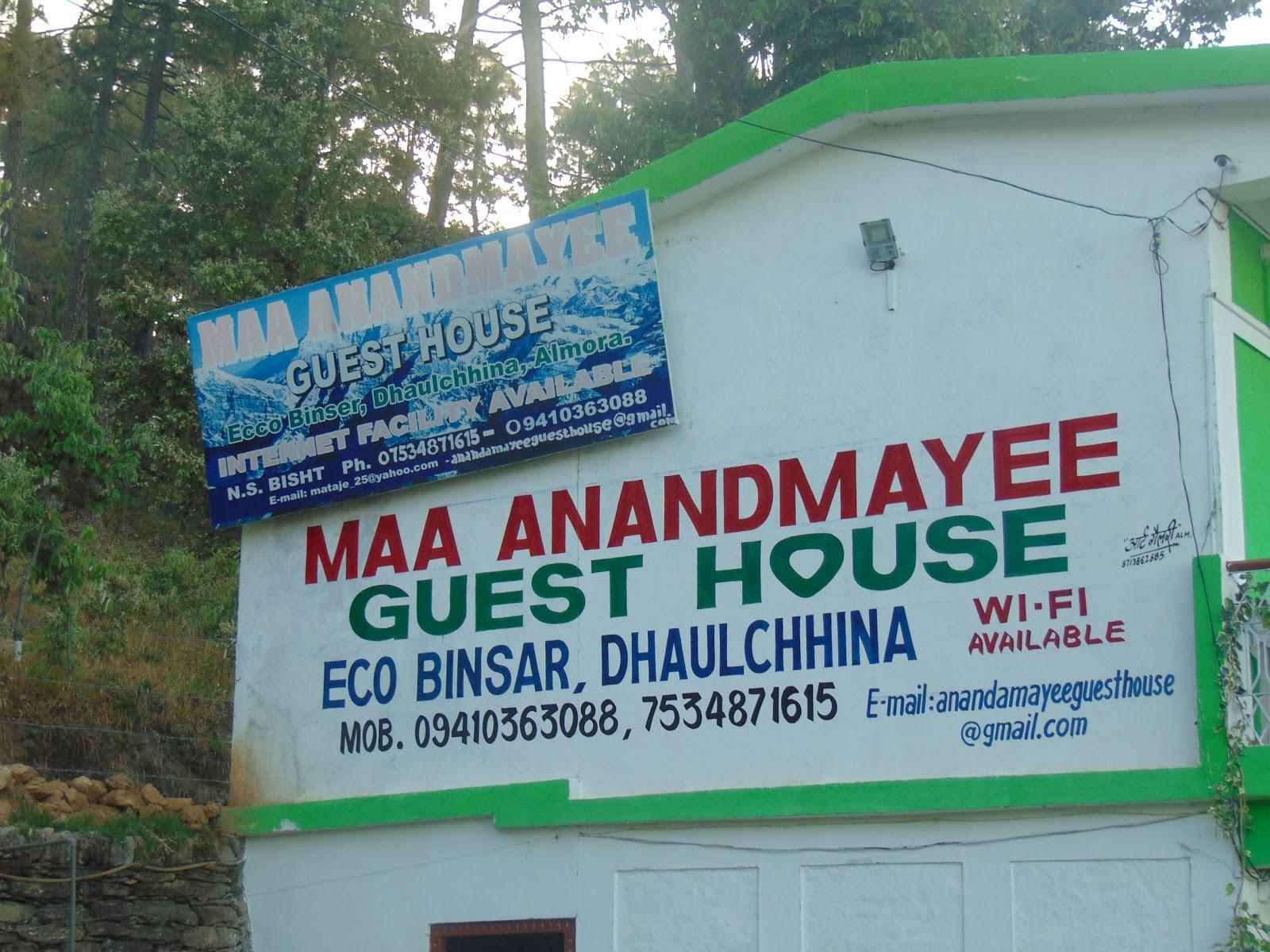 Maa Anandmayee Guest House, Eco Binsar, Dhaulachinna - A few sights
