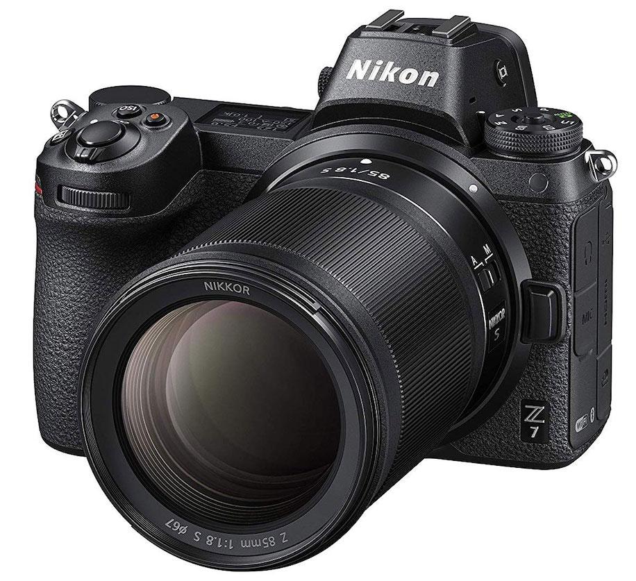 Объектив Nikon Nikkor Z 85mm f/1.8 S с фотоаппаратом Nikon Z7