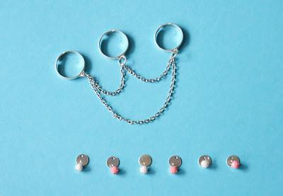 bijoux de princesse indienne, bague 3 doigts, Alice et Sandra, La Perle des Loisirs