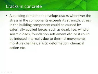 cracks in concrete ppt