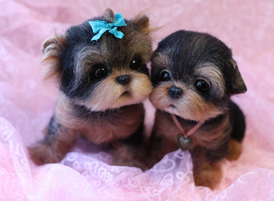 04-Yorkshire-Terriers-Yorkies-Tatiana-Barakova-Татьяна-Баракова-Plush-little-Animals-made-of-Wool-www-designstack-co