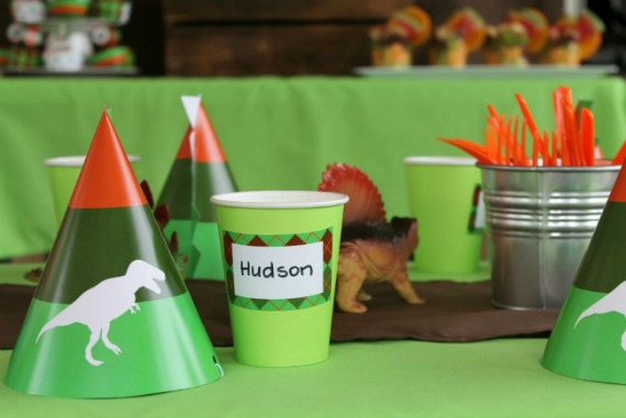 Dinosaur Party Idea Kids Party Printables Printable Invitation Invite Party Hats Cupcakes
