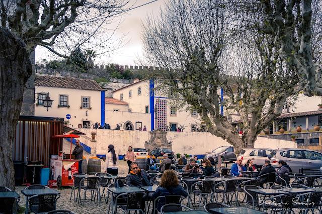 Travel   Visiting beautiful village of Óbidos, Portugal.