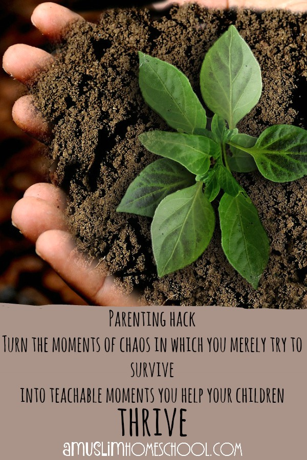 Parenting hack - use the chaos to teach your children to build their character and values