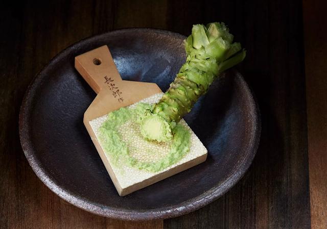 Trải nghiệm tự mài và thưởng thức wasabi tươi