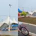 Em dia de Feira da Lua, chuva derruba tenda na Praça da Bandeira