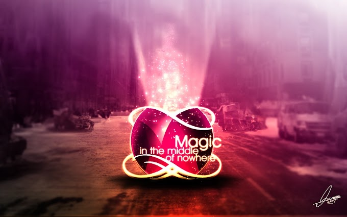 Magic in the Middle of Nowhere free psd
