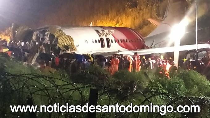 Accidente de avión en India deja 17 muertos y 46 heridos