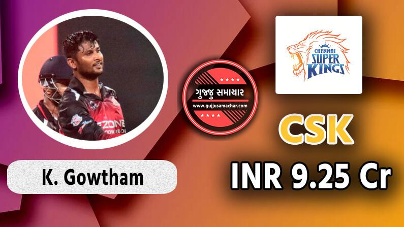 Krishnappa gowtham to CSK