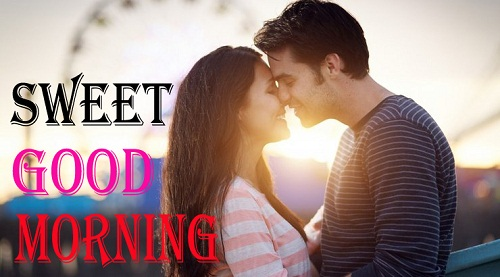 Sweet Good Morning Couple Kiss Image