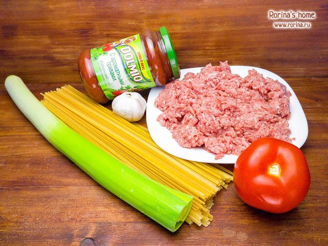 Рецепт болоньезе с фаршем и томатным соусом