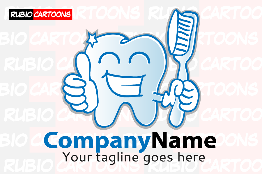 LOGOSTORE: SMILING TOOTH WITH TOOTHBRUSH