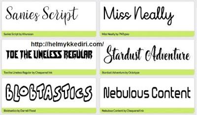 Daftar situs penyedia font gratis4