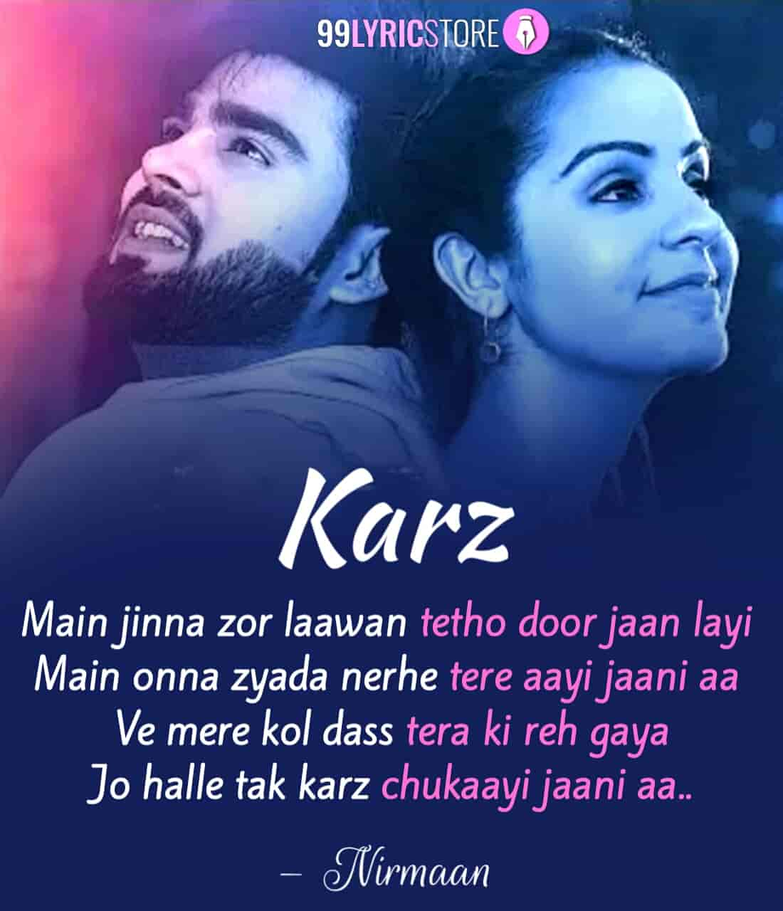 Karz Punjabi Song Sung by Simar Kaur