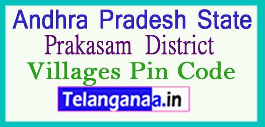Prakasam District Pin Codes in Andhra Pradesh State
