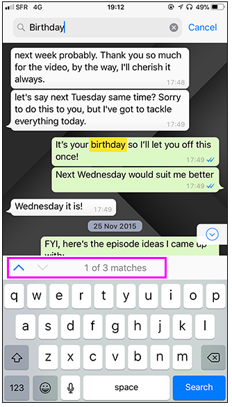 conta parole messaggi chat whatsapp android