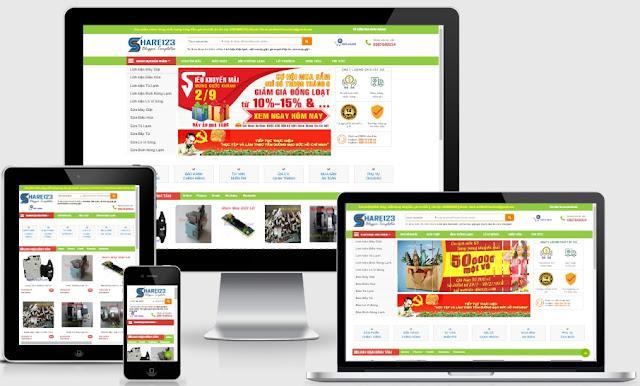 Template blogspot bán hàng linh kiện máy giặt