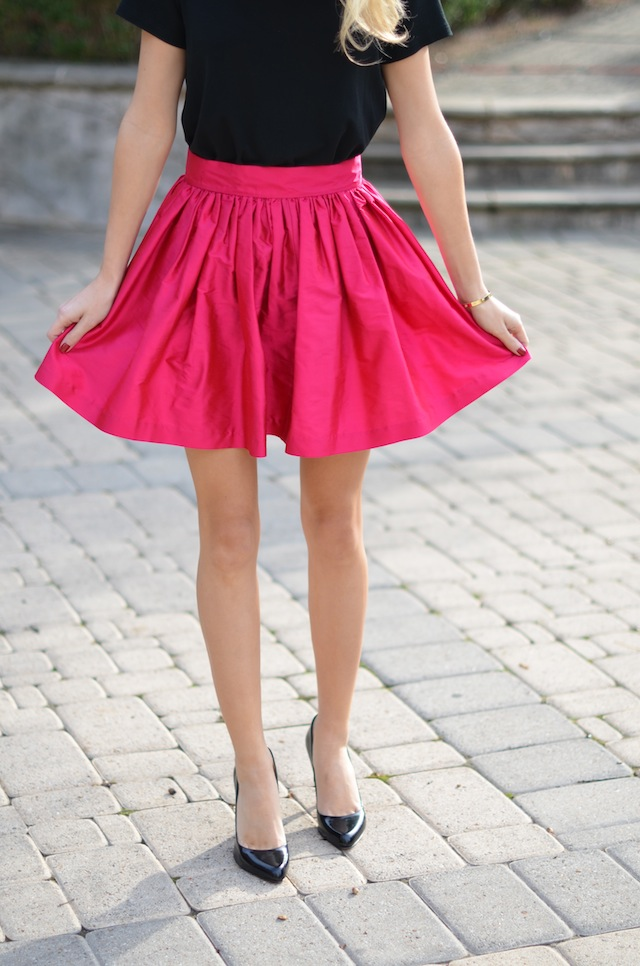 Shoe Luv Street Style Pointy Toe Pumps And A Party Skirt