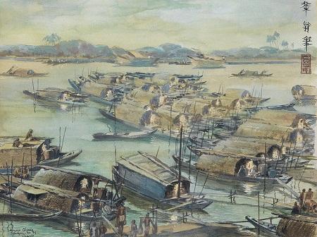 kênh Tàu Hủ trong tranh do họa sĩ người Pháp Léo Craste