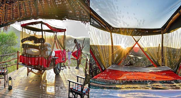 If you are sufficiently courageous, only then you can stay in Loisaba Star Beds because there are no walls to completely enjoy the wilderness of Africa. An exclusive quality of this hotel is its star-beds that are fully as it sounds that is stars and beds.