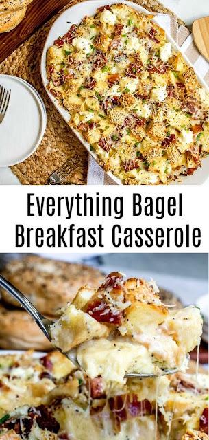 Simple Everything Bagel Make Ahead Breakfast Casserole