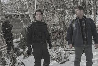 """David Haydn-Jones as Mr. Ketch and Jensen Ackles as Dean Winchester in Supernatural 13x18 """"Bring 'em Back Alive"""""""