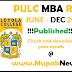 Pondicherry University Loyola college Results June 2020 - PULC Twinning Programme MBA Dec 2020 Results 2021 @ www.pondiuniv.edu.in