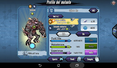Mutants: Genetic Gladiators Breeding video N°161 (Astro Surfer - Android)