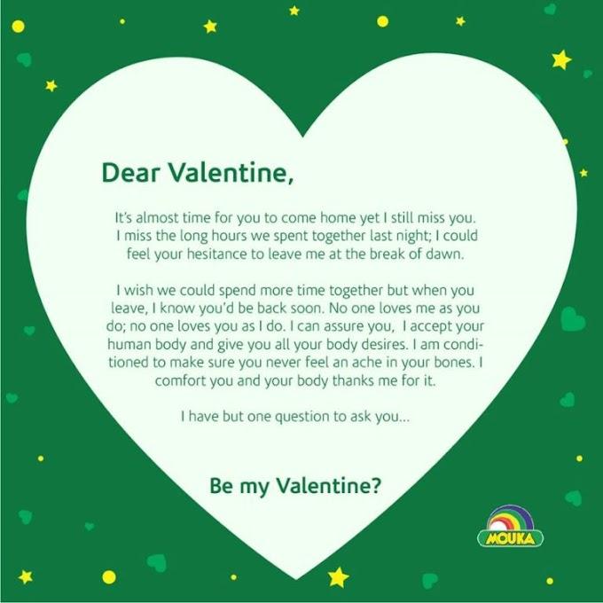 Mouka Foam Valentine Contest Tagged #Moukamylove !