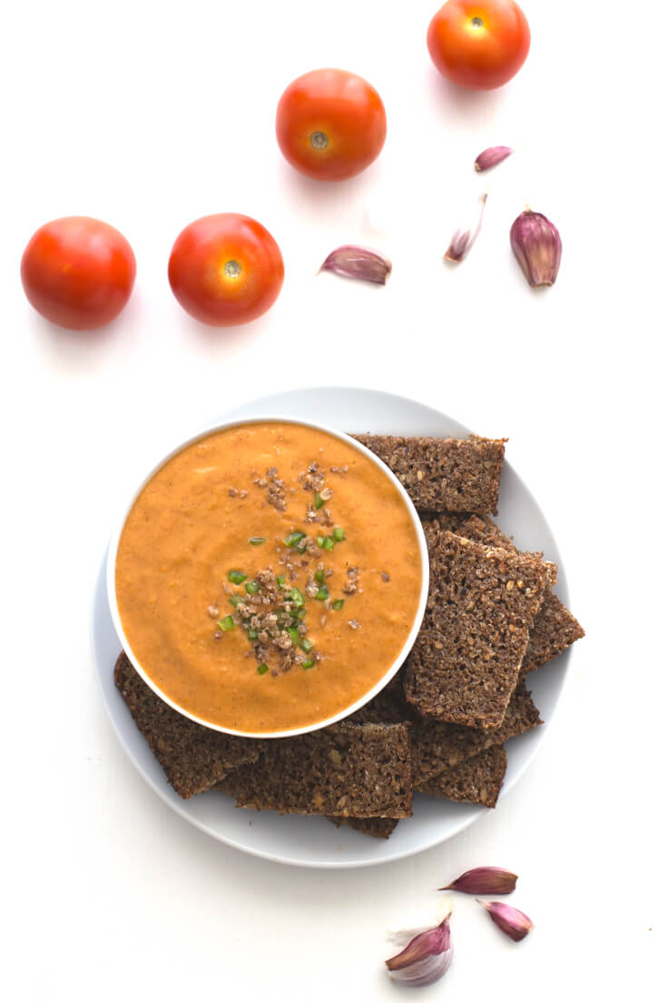 Porra antequerana - The porra antequerana is a cold tomato soup typical of Antequera. It is thicker than salmorejo and gazpacho, and it has nothing to envy them; it is to die for!