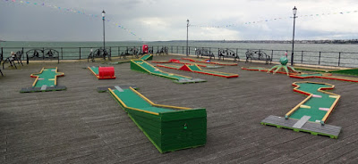Crazy Golf on Southend Pier