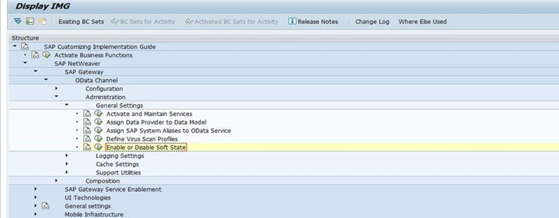 SAP ABAP Central: Soft State Support for OData Services
