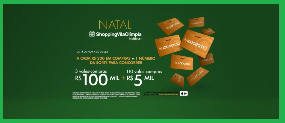 Promoção Natal 2020 Shopping Vila Olímpia
