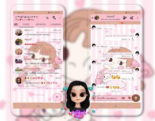 Girls Cute Theme For YOWhatsApp & Fouad WhatsApp By Ariana