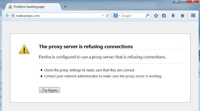 Cara Perbaiki 'The Proxy Server Refusing Connections' di Browser