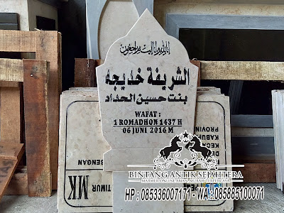 Contoh Nisan Patok, Batu Nisan Marmer, Batu Nisan Kuburan