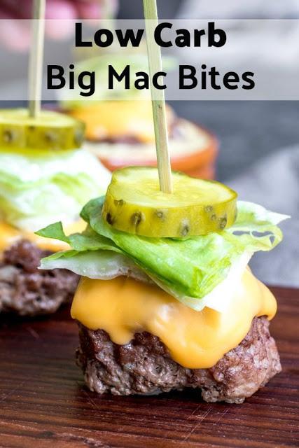 LOW CARB BIG MAC BITES