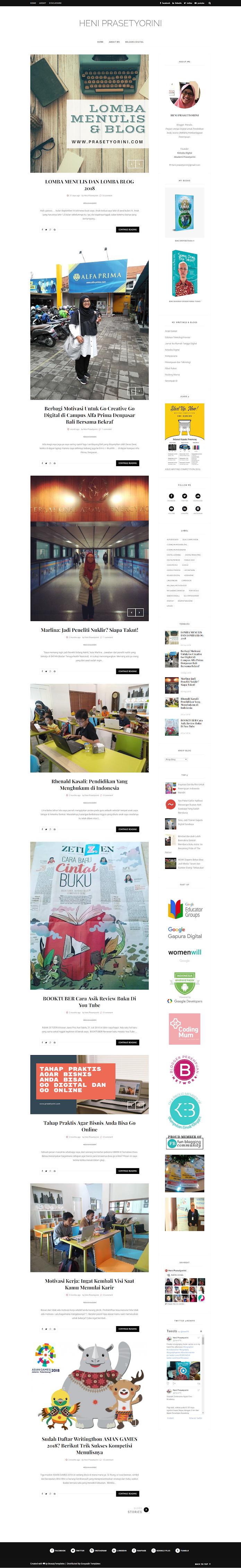 Mengganti Template Blogspot Menjadi Cantik dan Mobile Responsive