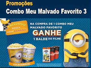 Promoção Cinépolis 2017 Filme Meu Malvado Favorito 3 Balde Colecionável