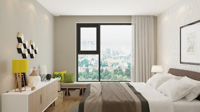 Mẫu thiết kế phòng ngủ căn hộ Gelexia Riverside