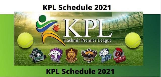 KPL Schedule 2021: Kashmir Premier league Schedule announced