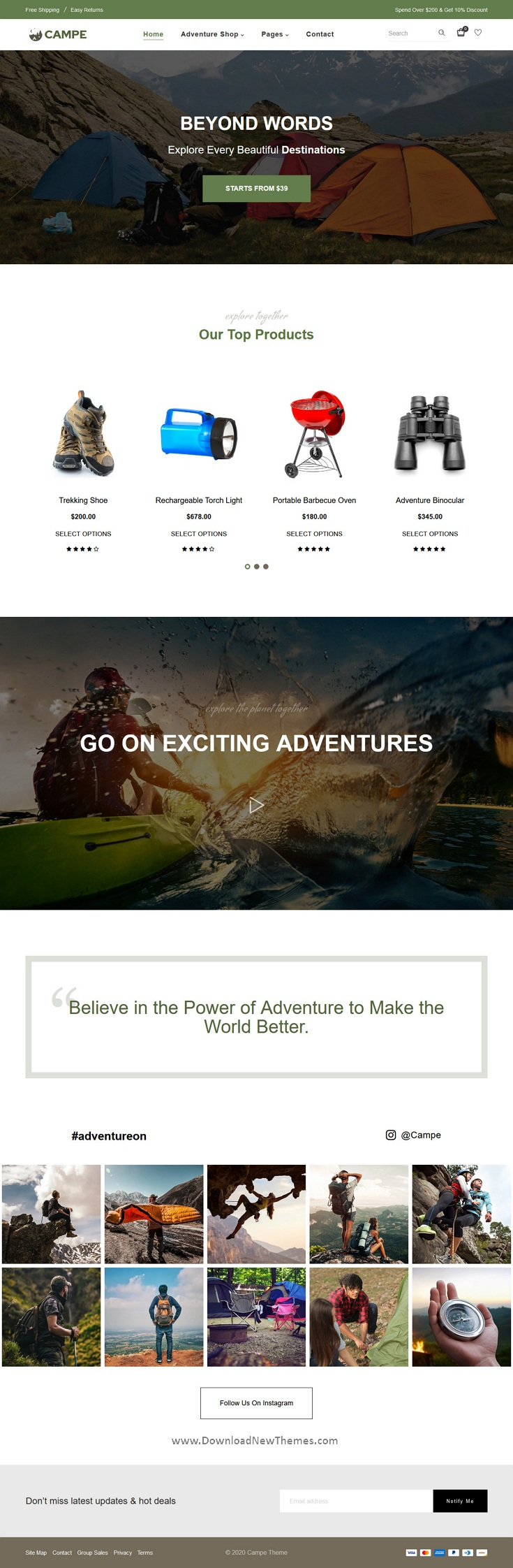 Camping & Adventure Shopify Theme