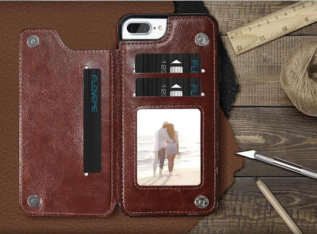 Retro Business Leather Multi-Card Holder iPhone Case