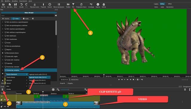 aggiungere clip effetto a video