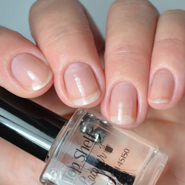 glossy nail polish top coat