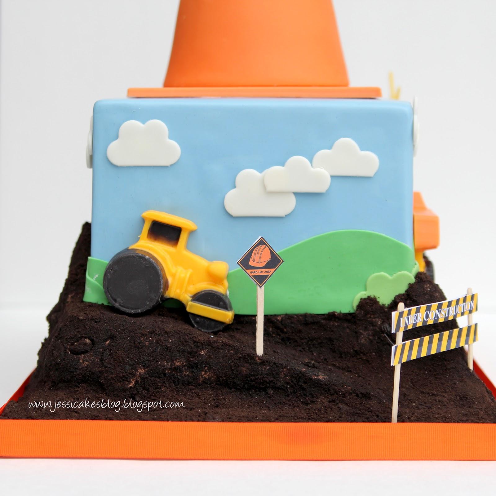 Incredible Construction Birthday Cake Jessica Harris Cake Design Funny Birthday Cards Online Alyptdamsfinfo